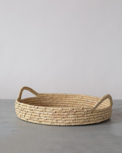 Palm Leaf Large Woven Tray