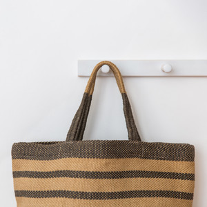 Sonoma Shopper grey stripe CU