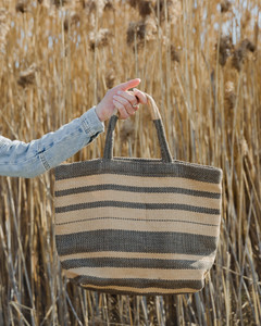 Sonoma Shopper grey stripe styled