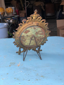 Vintage French Small Travel Mirror