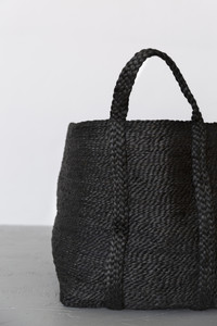 Large Jute Basket - Charcoal CU