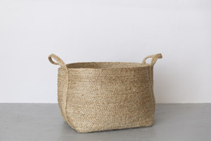 Jute Basket Large Natural Wide