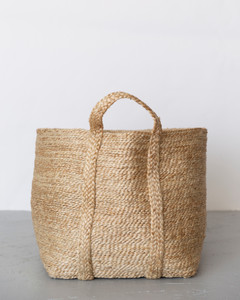 Jute Basket Large Natural Side View