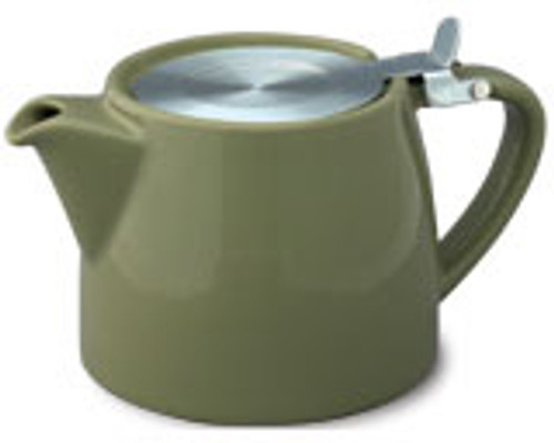 Stump Teapot  Olive - 16 oz.