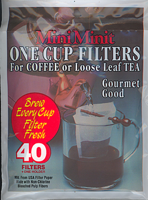 MiniMinit Disposable Paper Tea/Coffee Filters - Sold Out