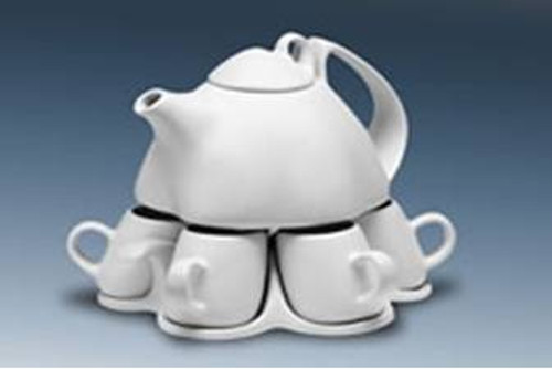 Saenger Tea/Coffee Set For Six with Stacking Sugar & Creamer