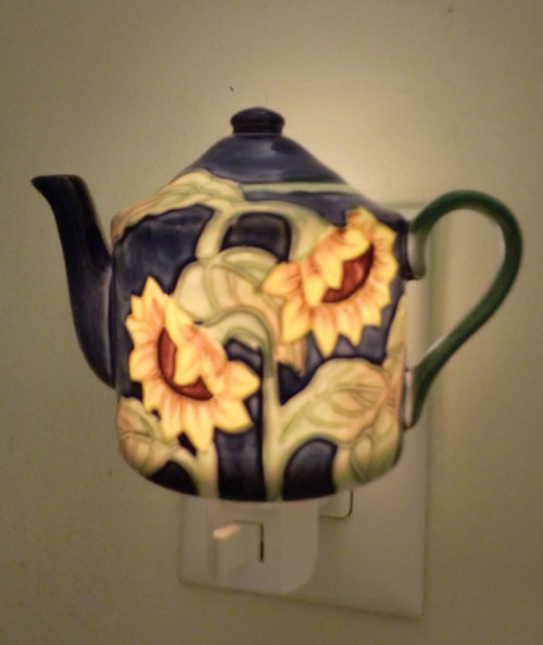 Sunflower Teapot Night Light