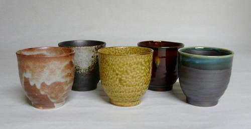 Rokubei Style Assorted Glazes Teacup Set