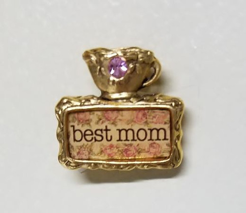 """Teacup Pin for """"Best Mom"""""""