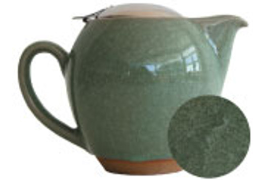 Green Crackle Glaze Teapot - 22 oz.