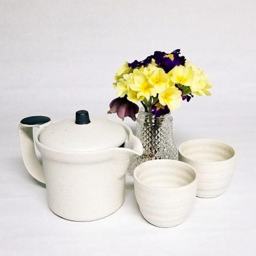 Japanese Sea Salt Spray Teapot and Teacups Set