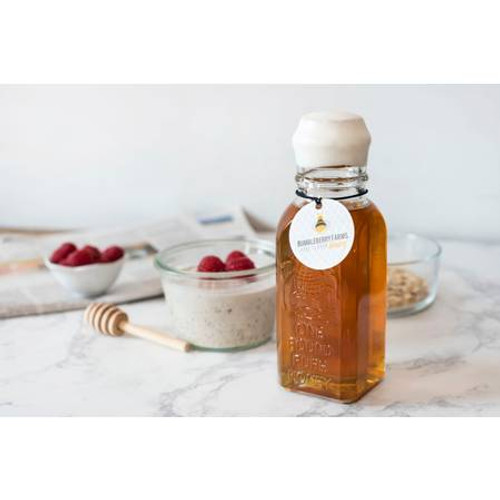 Small Embossed Vintage Honey Jar