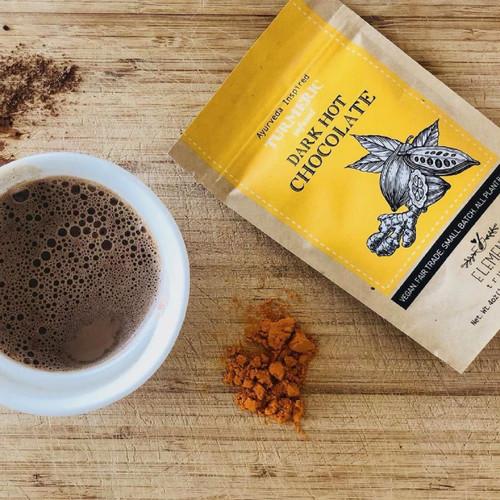 Turmeric Infused Vegan Hot Chocolate