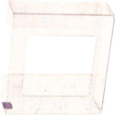 2-Box Horizontal Plastic Box Glove Dispenser, CLEAR PLASTIC