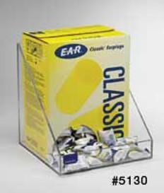 200-Pair (1-Box) Foam Ear Plug Tray, CLEAR PLASTIC