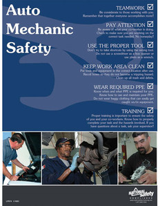 Auto Mechanic Safety Poster (24 by 32 inch)