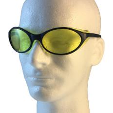 Uvex #S1621 Bandit Safety Eyewear Blue Frame w/ Amber Lens