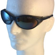 Uvex #S1624 Bandit Safety Eyewear Blue Frame w/ Mirror Lens