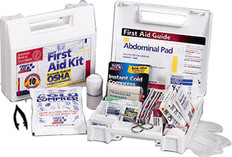 "10 Person, 62-Piece Bulk First Aid Kit - 9"" x 8-3/8"" x 2-1/2"""