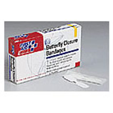 """Butterfly Wound Closure Bandages - 3/8"""" x 1-13/16"""" (10 p/Box)"""