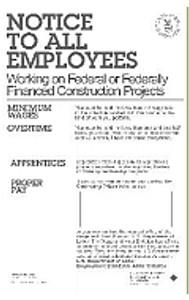 Davis-Bacon Poster (Government Construction)