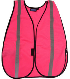 ERB Pink Safety Vests Silver Stripes