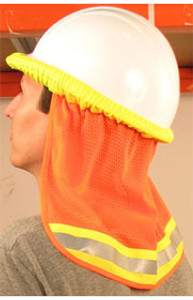 ERB #19282 Safety Helmet Reflective Neck Shades - Orange