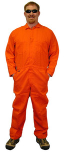 Nomex IIIA Coveralls - Orange Color - Sizes Small to 5XL