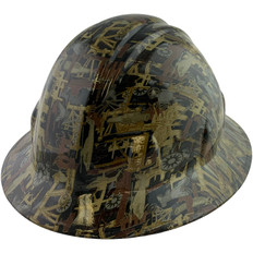 Hydrographic FULL BRIM Hard Hat-Ratchet Suspension – Oilfield Camo White