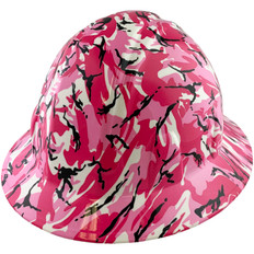 Hydrographic FULL BRIM Hard Hat-Ratchet Suspension – Pink Camo
