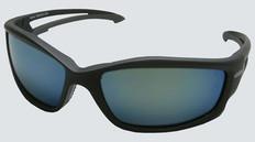 Edge #TSKAP218 Kazbek Polarized Safety Eyewear w/ Blue Mirror Lens