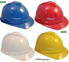 MSA Advance Vented Cap With Ratchet Liners