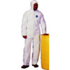 Polypropylene Suit, PE Coated with Zipper Front (25 per case)