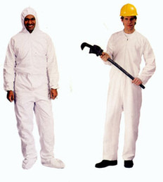 Standard Polypropylene Coveralls with Hood, Boots and Elastic Wrists (25 per case)