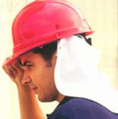 ERB # 19280 Safety Helmet White Neck Shields