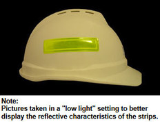 ERB # 19570 Safety Helmet 4 Inch Reflective Stripes - Lime