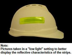 ERB # 19570 Safety Helmet 4 Inch Reflective Stripes - Lime