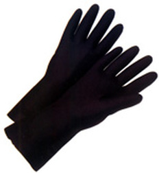 Neoprene Flock Lined 18 Mil Glove 13 inch length (sold by the dozen)