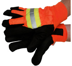 Premium Grain Pigskin Waterproof Driver Glove with Reflective Stripes (PAIR)