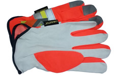 Premium Grain Goatskin Driver Glove with Reflective Stripes (PAIR)