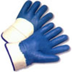 Nitrile Palm Coated with Safety Cuff (sold by the dozen)
