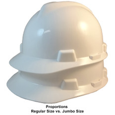 MSA # SO-477482 Cap Style Large Jumbo Safety Helmets with Staz-On Pin Lock Suspension White