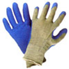 Cotton Knit Conforming Glove with Natural Rubber on one side (sold by the dozen)