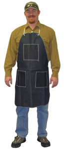 Denim Apron with 1 Chest Pocket & 2 Hip Pockets, 28 x 36 (12 per case)