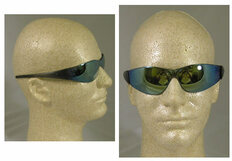 MCR Crews #CK118 Checkmate Safety Eyewear w/ Rainbow Mirror Lens
