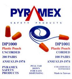 Pyramex Earplugs w/Cords (100 ct)