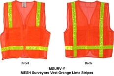 MESH Surveyors Vest Orange Lime Stripes