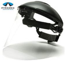 Pyramex #S1020 Polycarbonite Clear Face Shield (only)