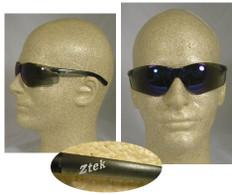 Pyramex #S2575S Ztek Safety Eyewear w/ Blue Mirror Lens
