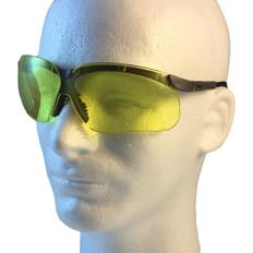 Uvex #S3222 Genesis Safety Eyewear Earth Frame w/ Amber Lens
